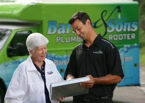 plumber explaining options
